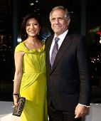 NEW YORK-OCT 16: TV personality Julie Chen and President and CEO of CBS Corporation Leslie Moonves attend God's Love We Deliver, Golden Heart Awards on October 16, 2014 in New York City.