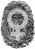 Thumb print with female gender symbol