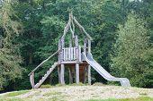 Old Wooden Playground Slide
