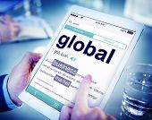 Digital Dictionary Global Business Market Concept