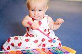 xilofone de brinquedo jogo bebê menina