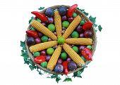 Decorated Thanksgiving Basket
