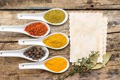 image of eastern culture  - Spices recipe background - JPG