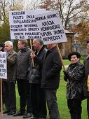 Demonstration in front of the Academy of Sciences in Riga