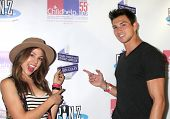 LOS ANGELES - OCT 19:  Kate Mansi, Robert Scott Wilson at the First Annual Stars Strike Out Child Abuse event to benefit Childhelp at Pinz Bowling Center on October 19, 2014 in Studio City, CA