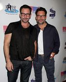 LOS ANGELES - OCT 19:  Lawrence Zarian, Gregory Zarian at the First Annual Stars Strike Out Child Abuse event to benefit Childhelp at Pinz Bowling Center on October 19, 2014 in Studio City, CA