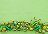 Green Christmas Baubles