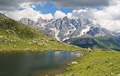 Lusia Lake And Pale San Martino Mount