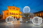 Frankfurt Alte Oper at Cristmastime, Germany