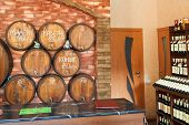 Local Crimean Wine On Tap In Shop In Yalta