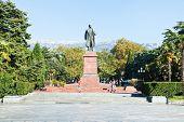 Monument On Lenin Square In Yalta City