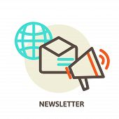 Vector email marketing concepts newsletter and subscription