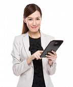 Businesswoman use tablet