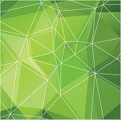 vector green polygonal background