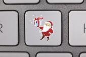 Santa Claus Icon Keyboard