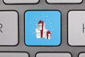 Gift Box on Keyboard