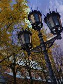 Old Street Light Beside Catholic Church