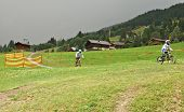 The Milka Line in Saalbach ,a ride track for the whole family ,on the Kohlmais Mountains.