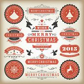 Christmas Decoration Vector Design Elements