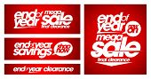 stock photo of year end sale  - End of year mega sale banners set - JPG