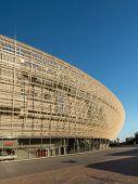 KRAKOW- OCTOBER 19: Krakow Arena is a newly built indoor arena located in Krakow, Poland. It has a seating capacity of over 15 328 for sporting and entertainment events