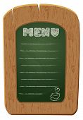 stock photo of freehand drawing  - Wooden sign board  - JPG