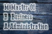 Master Of Business Administration Concept