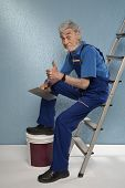 Old Master Plasterer Of Mystery In Your Hands