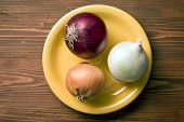 the various onions on plate