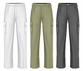 Men's working trousers. Photo-realistic vector illustration contains gradient mesh.