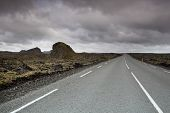 An Open Stretch Of Road In Iceland