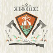 Expedition Emblem Forest Camp