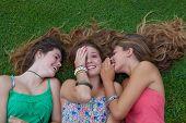 healthy summer teens girls outdoors
