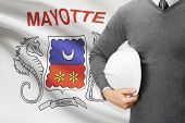 Engineer With Flag On Background - Mayotte