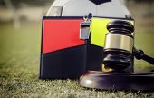 Soccer football legal rules and regulations concept image