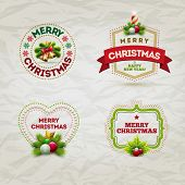 Vector modern Christmas and new year invitation design template. Elements are layered separately in vector file.
