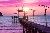 Evening Meditation Way to Sunset