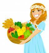 girl holding fresh vegetables