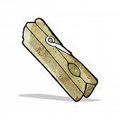 cartoon wooden peg