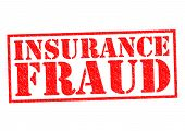 picture of cheating  - INSURANCE FRAUD red Rubber Stamp over a white background - JPG