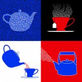 image of extremist  - Four symbols for the tea party movement in America - JPG
