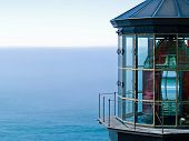 Cape Meares Lighthouse On The Oregon Coast On A Clear, Sunny Day