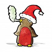 cartoon christmas robin smoking marijuana