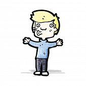 cartoon boy whistling