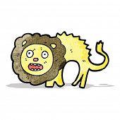 cartoon frightened lion