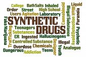 stock photo of hallucinogens  - Synthetic Drugs word cloud on white background - JPG