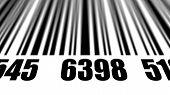 foto of barcode  - Closeup of scanning barcode - JPG
