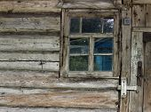 pic of dirty  - Old dirty window on old dirty wall  - JPG