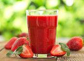foto of strawberry  - Strawberry smoothie  - JPG