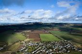 pic of lowlands  - Aerial photo taken during a flight over the lowlands of scottland in February - JPG